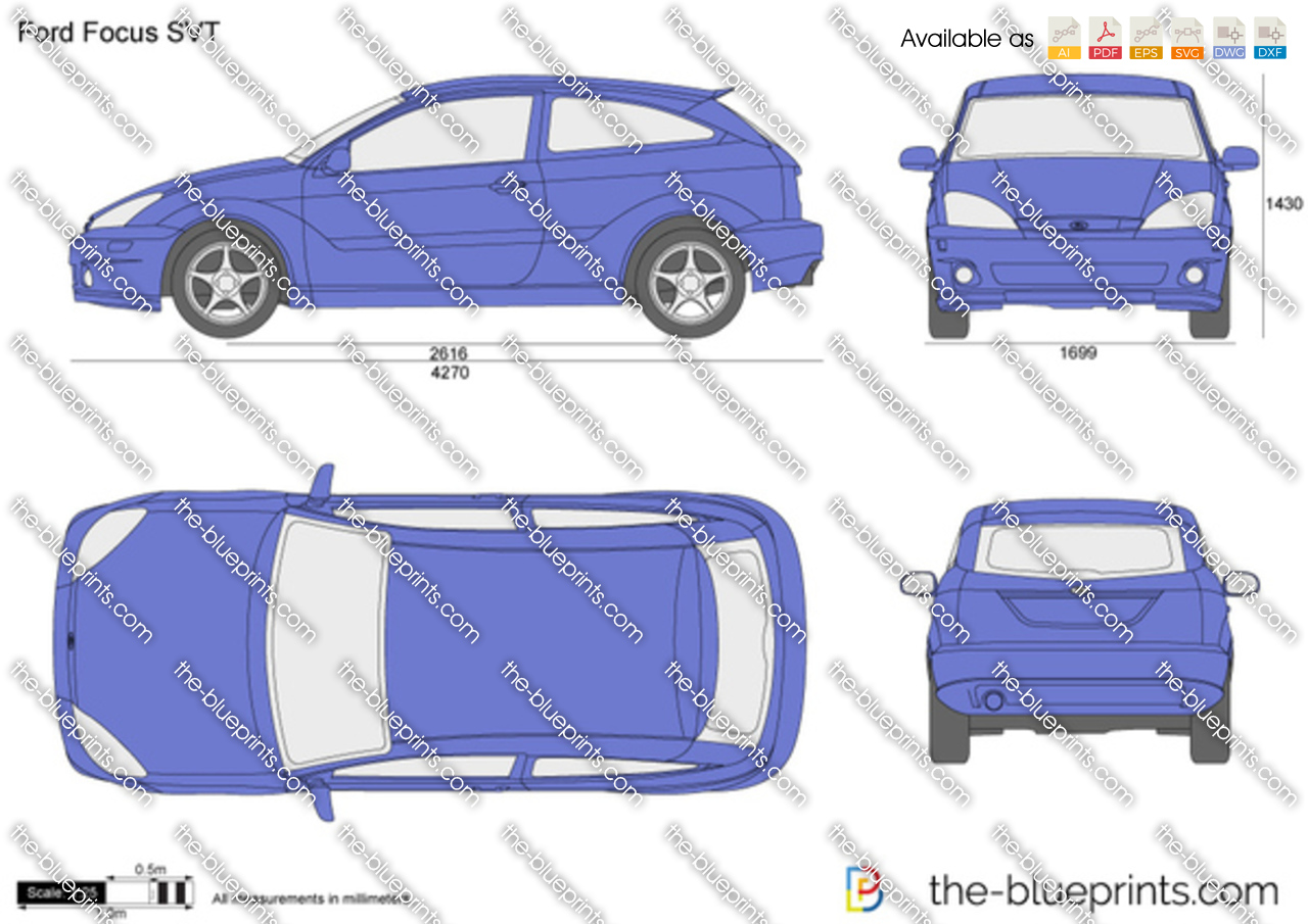The blueprints vector drawing ford focus svt ford focus svt ford focus svt 2002 malvernweather Choice Image
