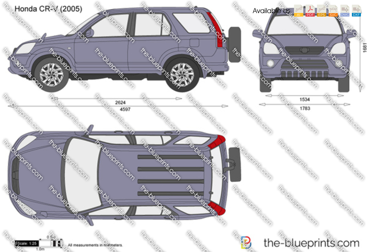 Honda Cr V Vector Drawing