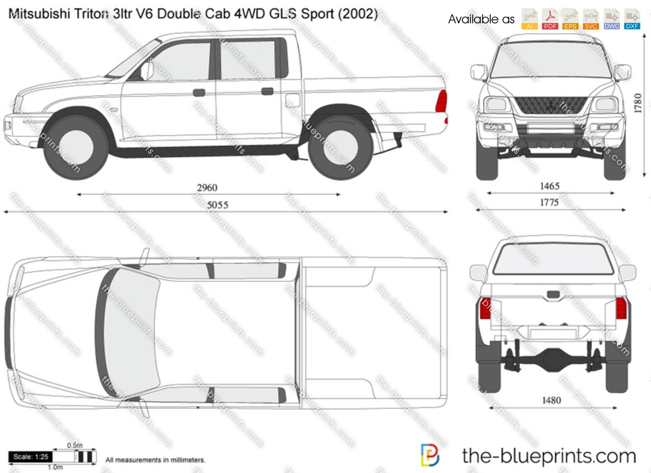 The Blueprints Com Vector Drawing Mitsubishi Triton
