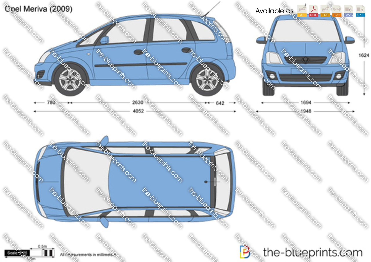 opel meriva vector drawing. Black Bedroom Furniture Sets. Home Design Ideas