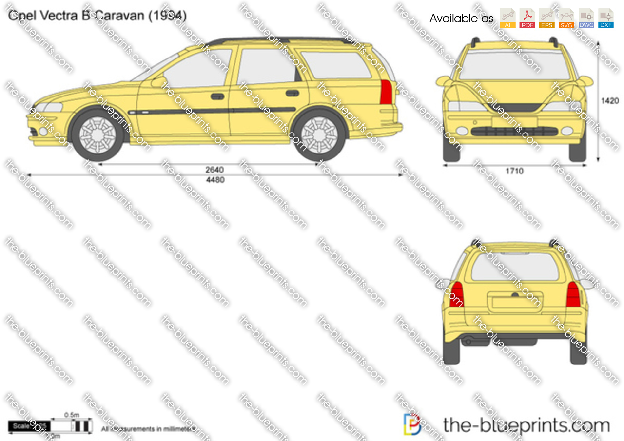 opel vectra b caravan vector drawing. Black Bedroom Furniture Sets. Home Design Ideas