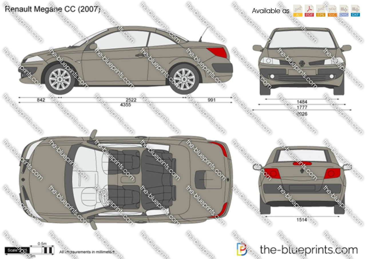 the vector drawing renault megane cc. Black Bedroom Furniture Sets. Home Design Ideas