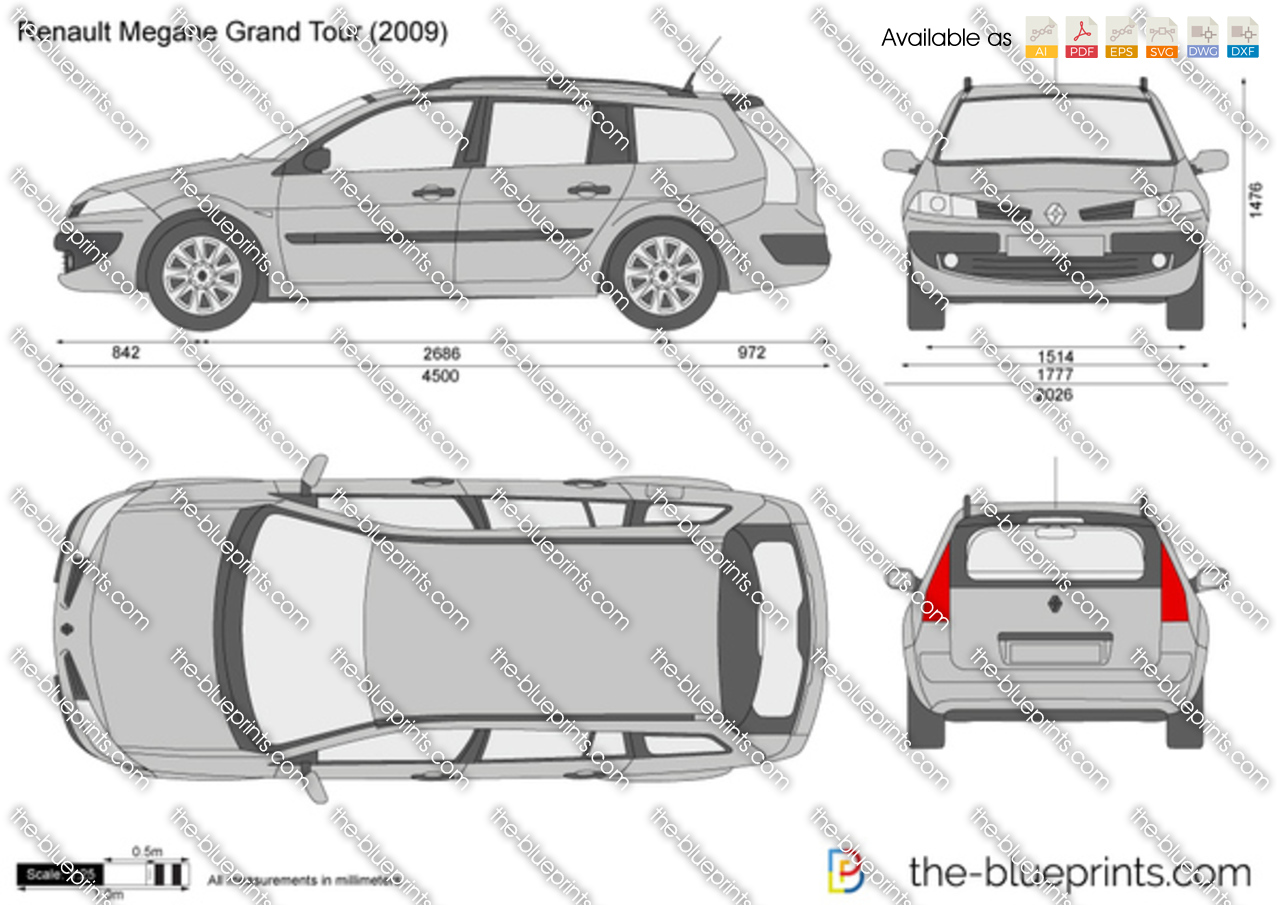 renault megane grand tour vector drawing. Black Bedroom Furniture Sets. Home Design Ideas