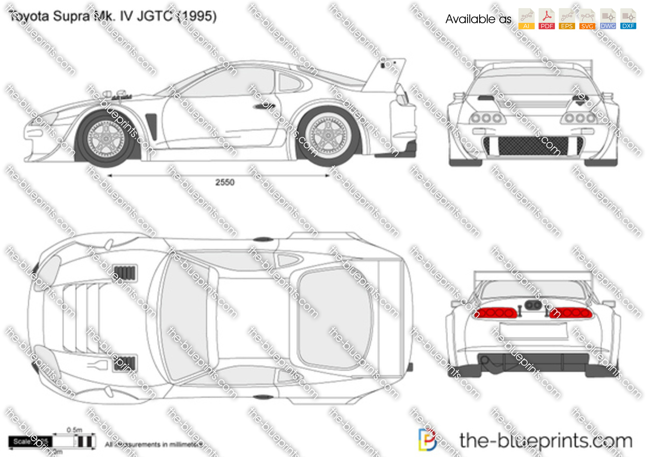 Toyota Supra Mk Iv Jgtc Vector Drawing