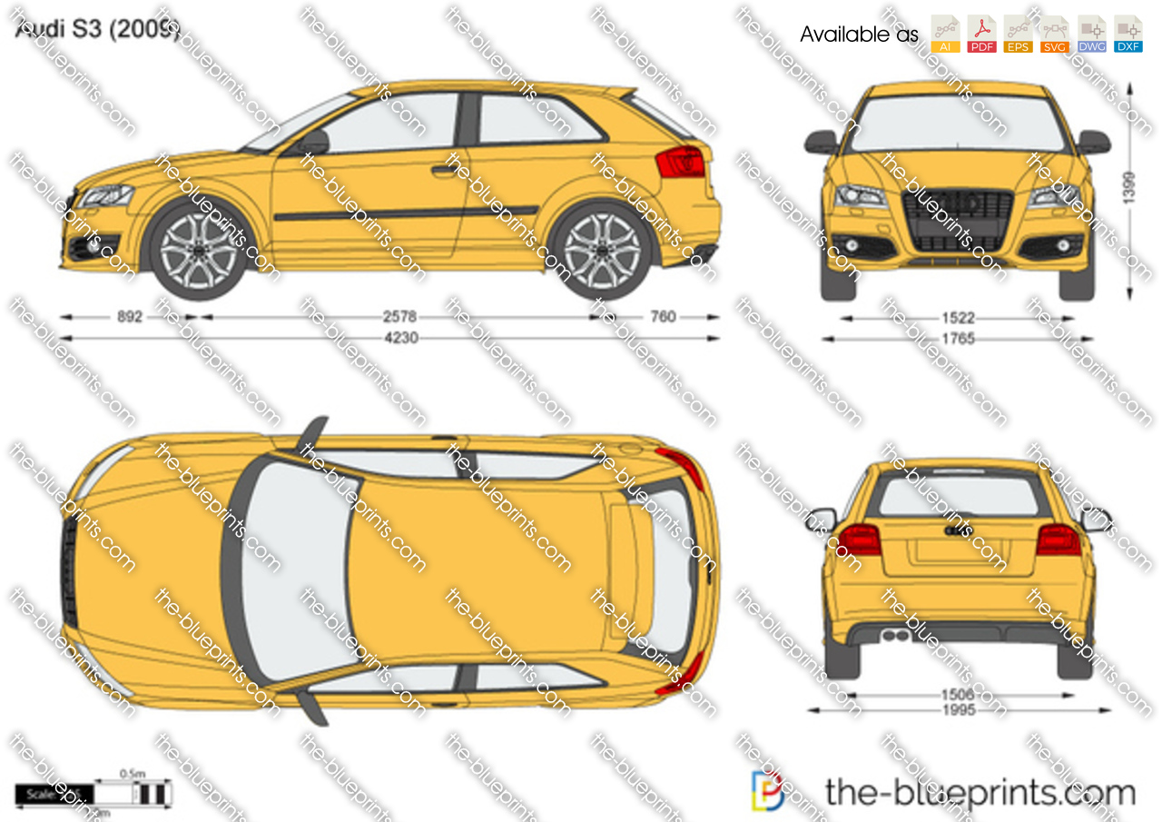 Audi S3 Vector Drawing