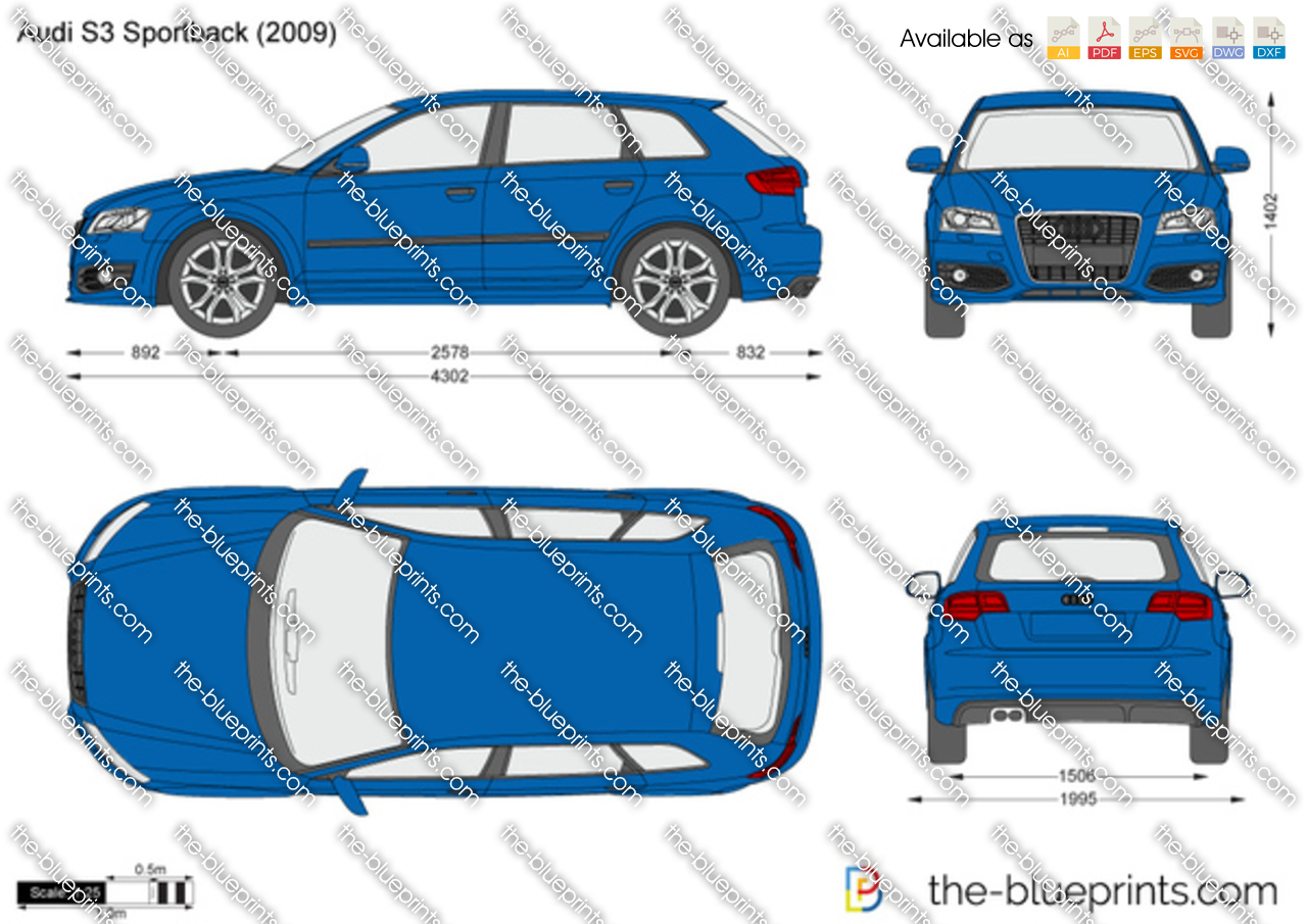 audi s3 sportback vector drawing. Black Bedroom Furniture Sets. Home Design Ideas