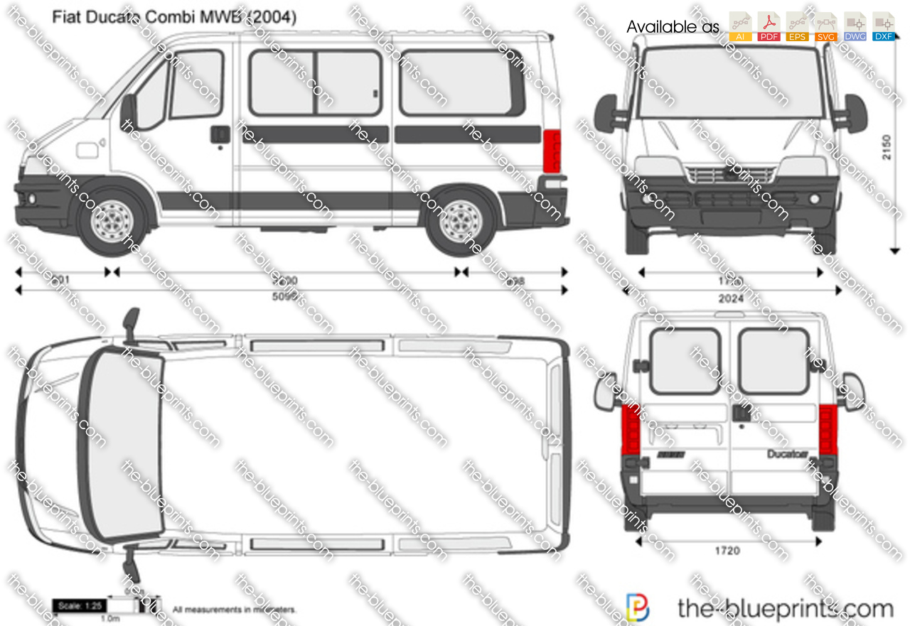 the vector drawing fiat ducato combi mwb. Black Bedroom Furniture Sets. Home Design Ideas