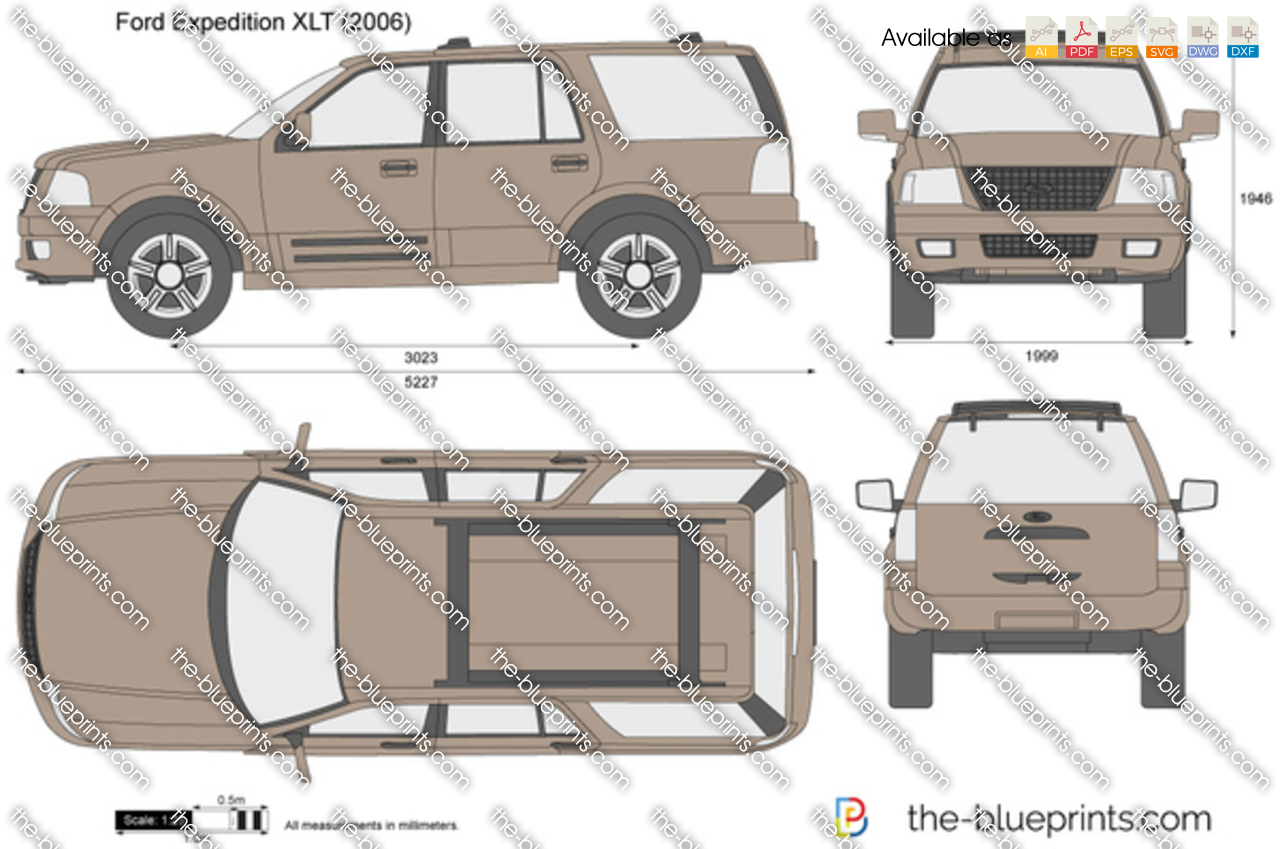 Ford Expedition Xlt Vector Drawing