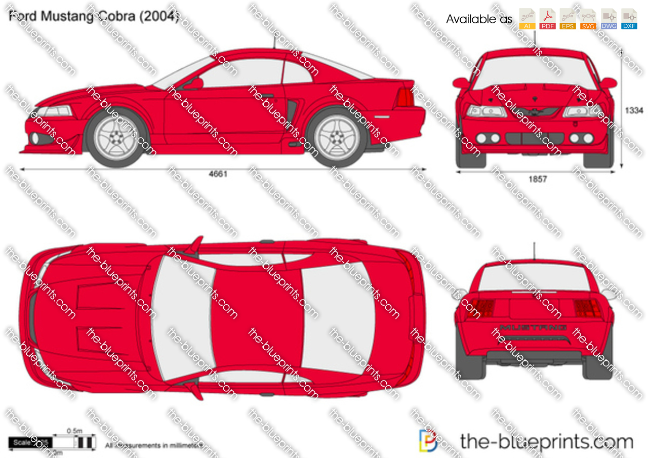 The blueprints vector drawing ford mustang cobra ford mustang cobra malvernweather Image collections