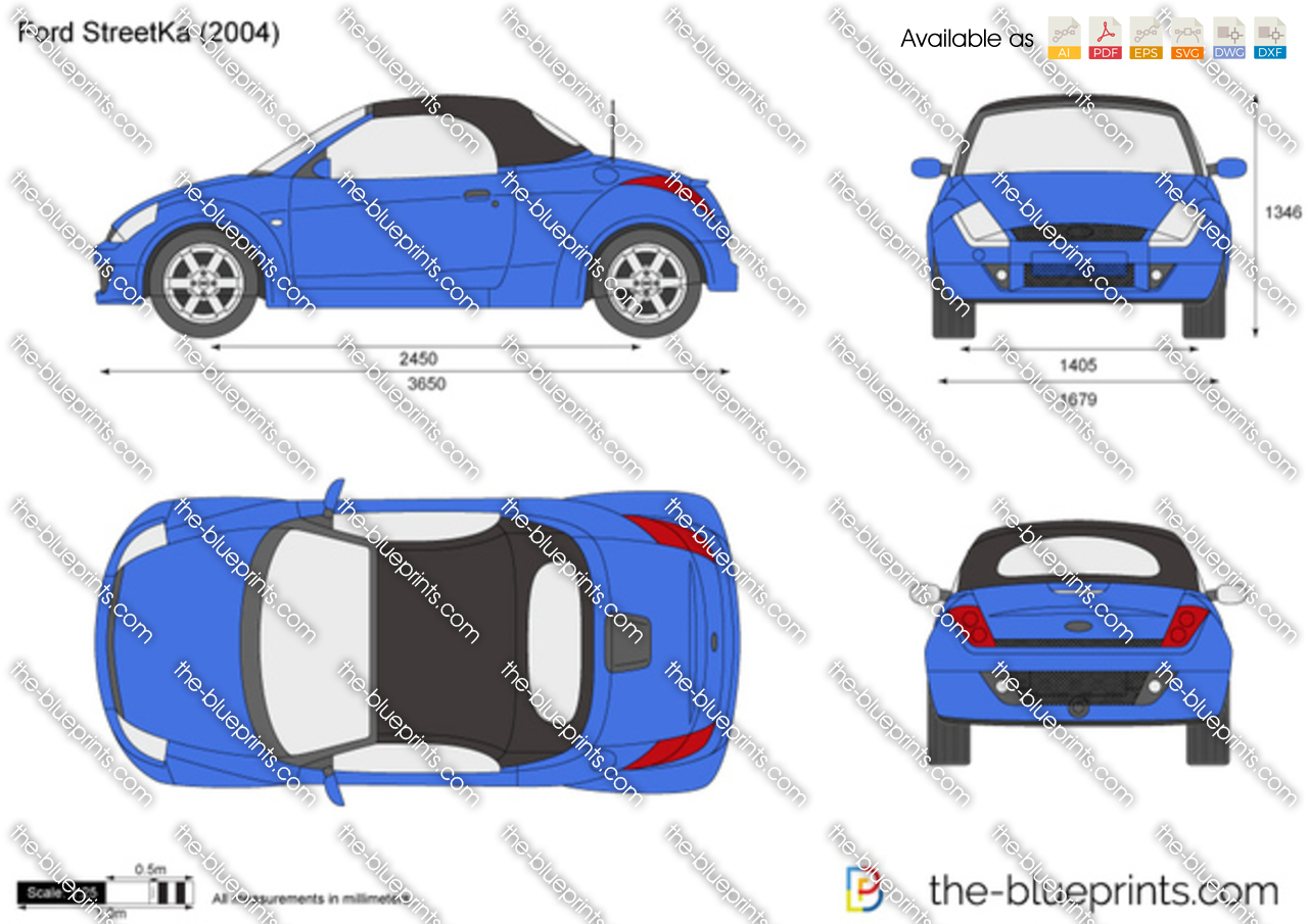 Ford streetka vector drawing for Ford motor credit application pdf