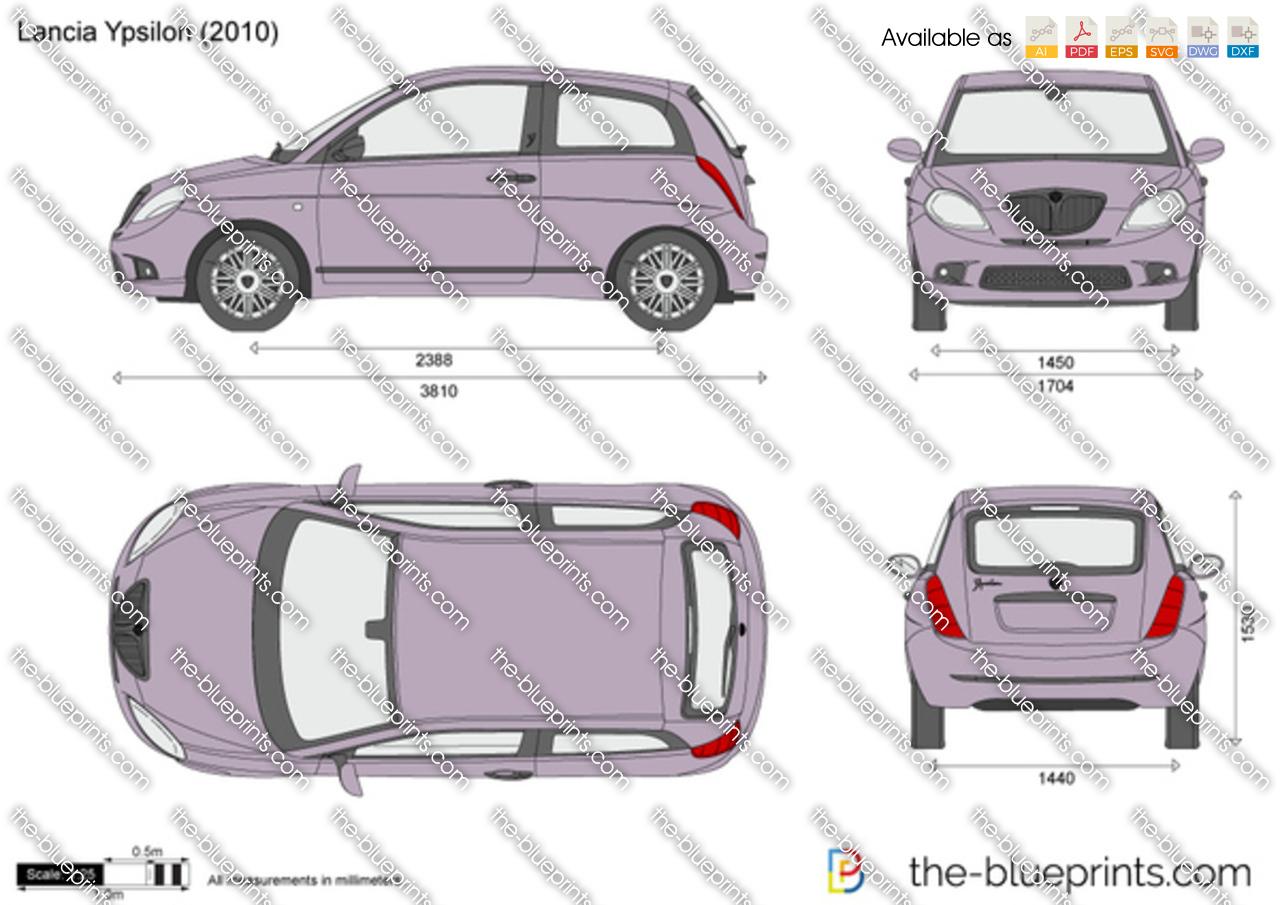 Lancia Ypsilon vector drawing