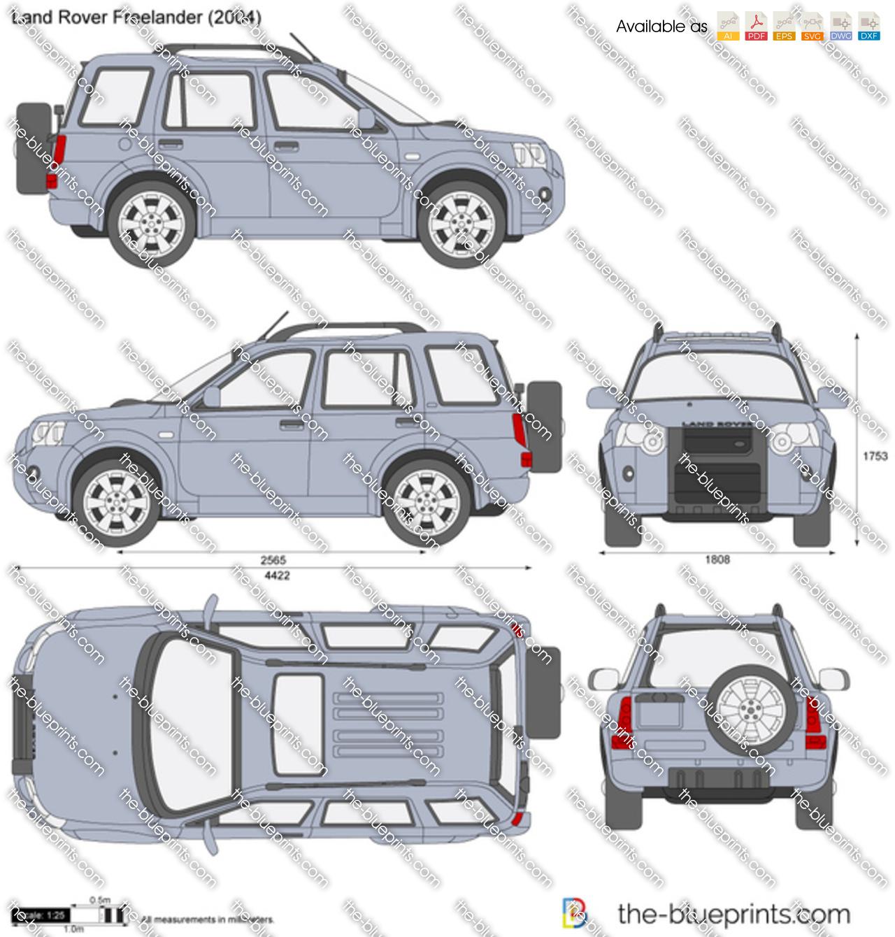 Land Rover Freelander Vector Drawing