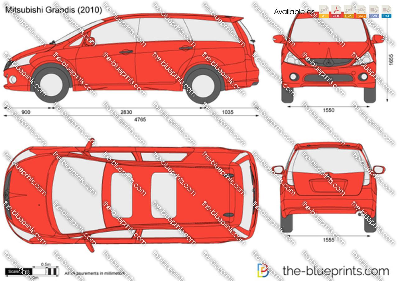 Mitsubishi Grandis Vector Drawing