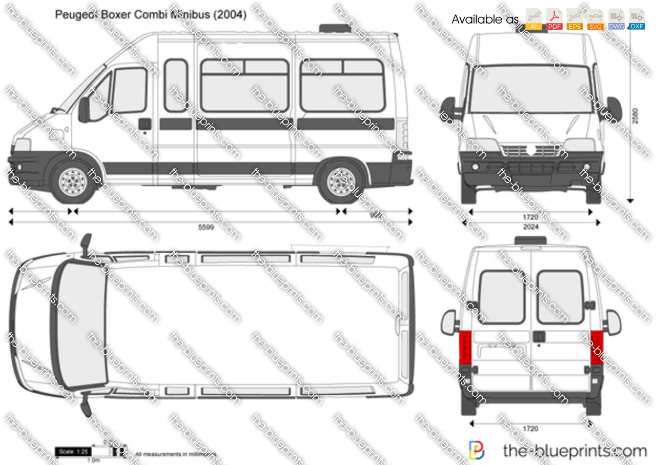 the vector drawing peugeot boxer combi minibus. Black Bedroom Furniture Sets. Home Design Ideas