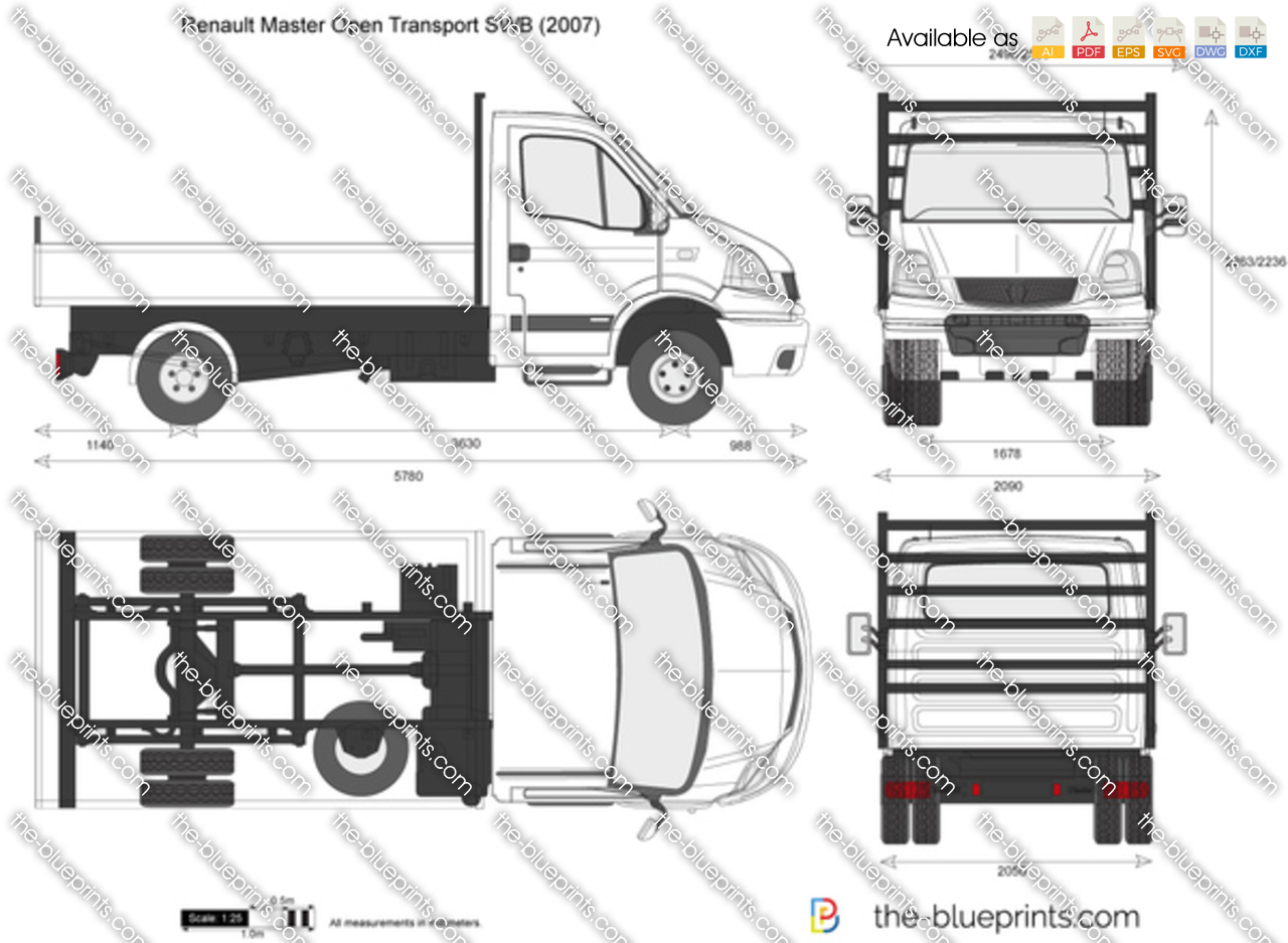 the vector drawing renault master open. Black Bedroom Furniture Sets. Home Design Ideas