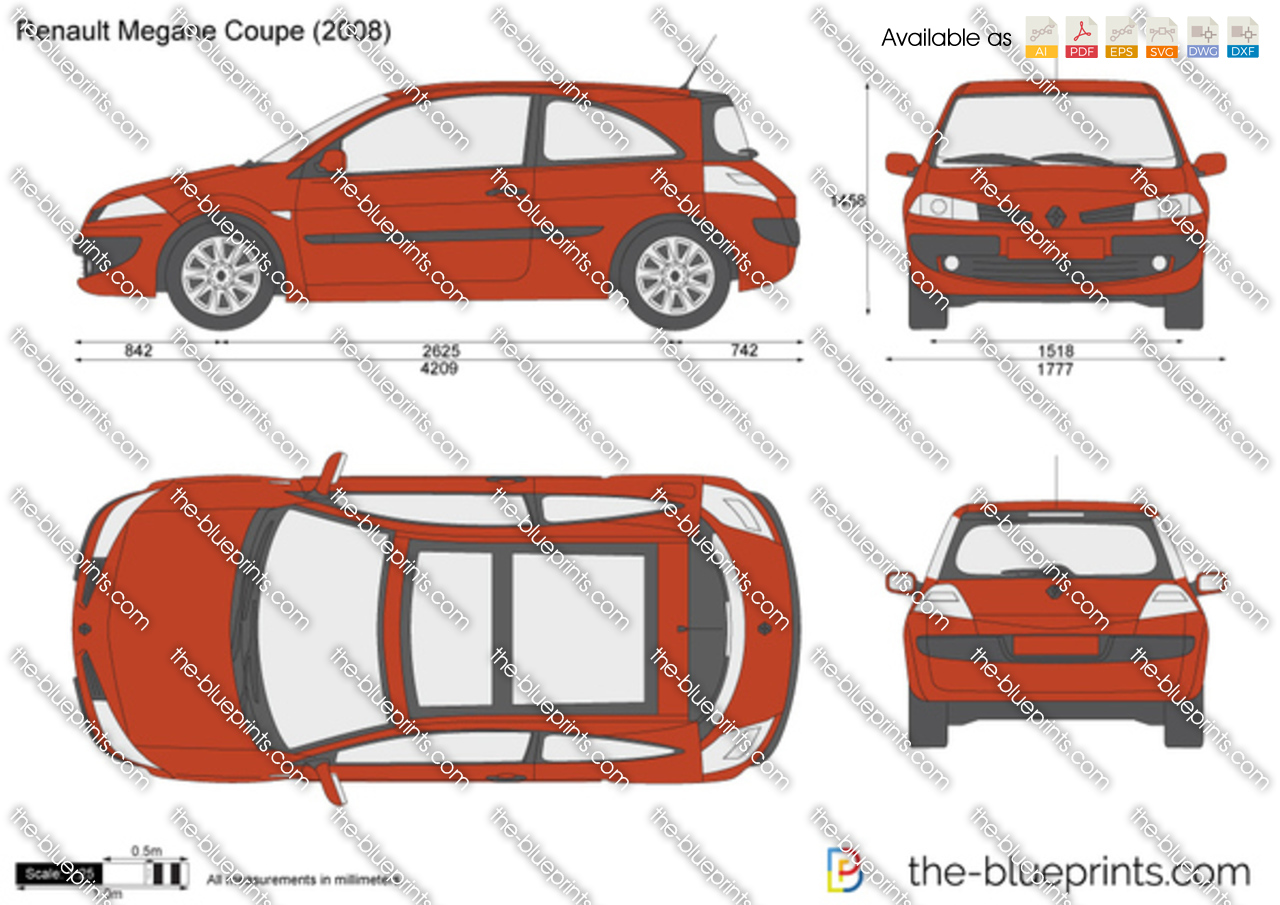 renault megane coupe vector drawing. Black Bedroom Furniture Sets. Home Design Ideas