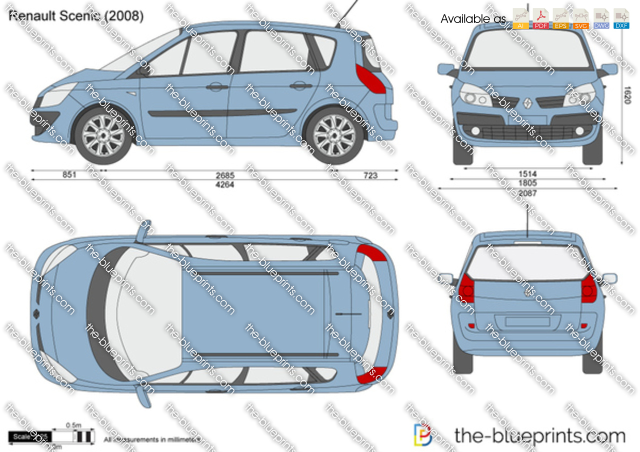 renault scenic vector drawing. Black Bedroom Furniture Sets. Home Design Ideas
