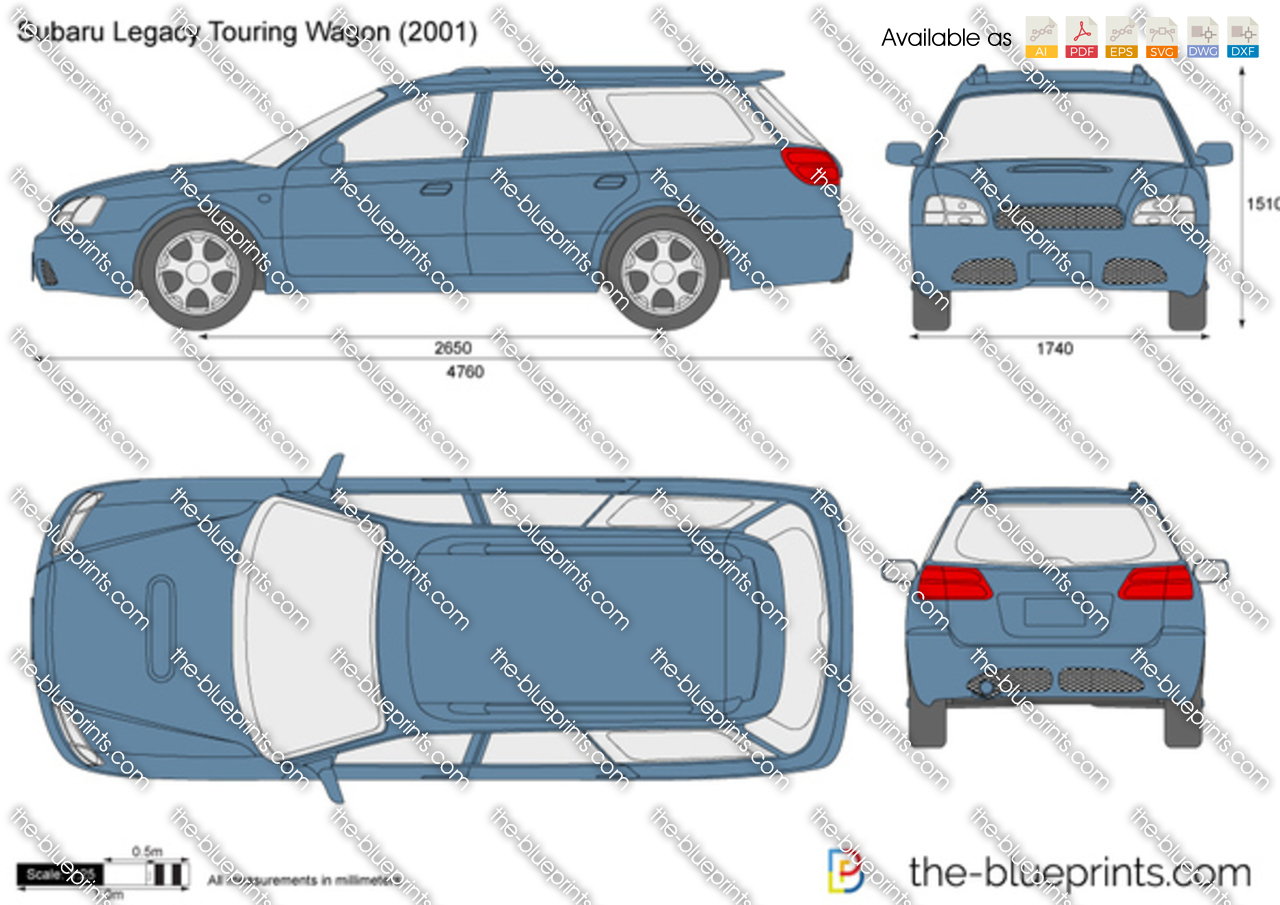 Subaru Legacy Touring Wagon vector drawing