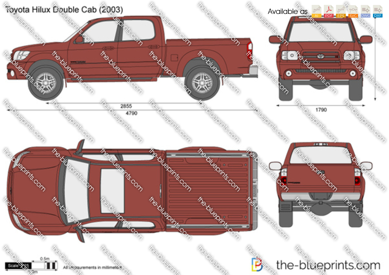 2010 Toyota Corolla For Sale >> Toyota Hilux Double Cab vector drawing