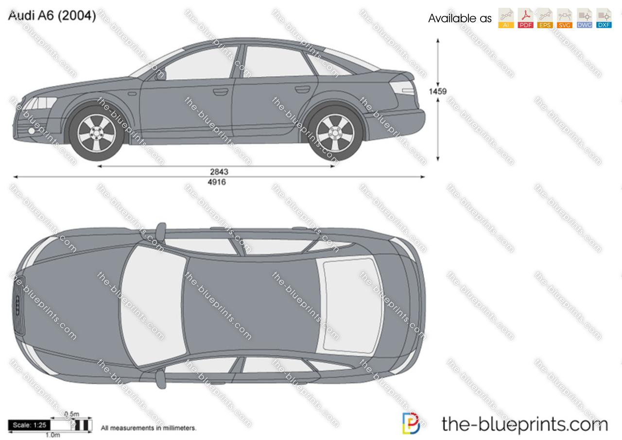 Audi A6 2005 Dimensions >> Audi A6 Vector Drawing