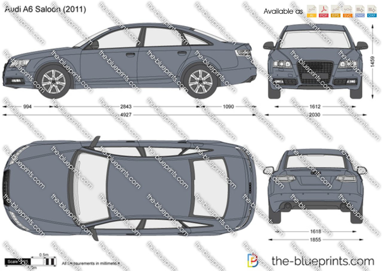 the vector drawing audi a6 saloon. Black Bedroom Furniture Sets. Home Design Ideas