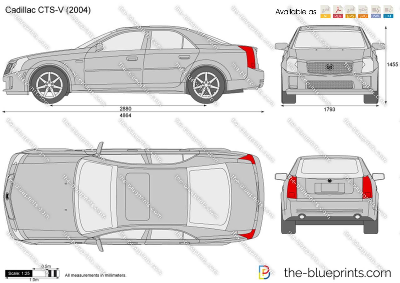 Cadillac CTS-V vector drawing