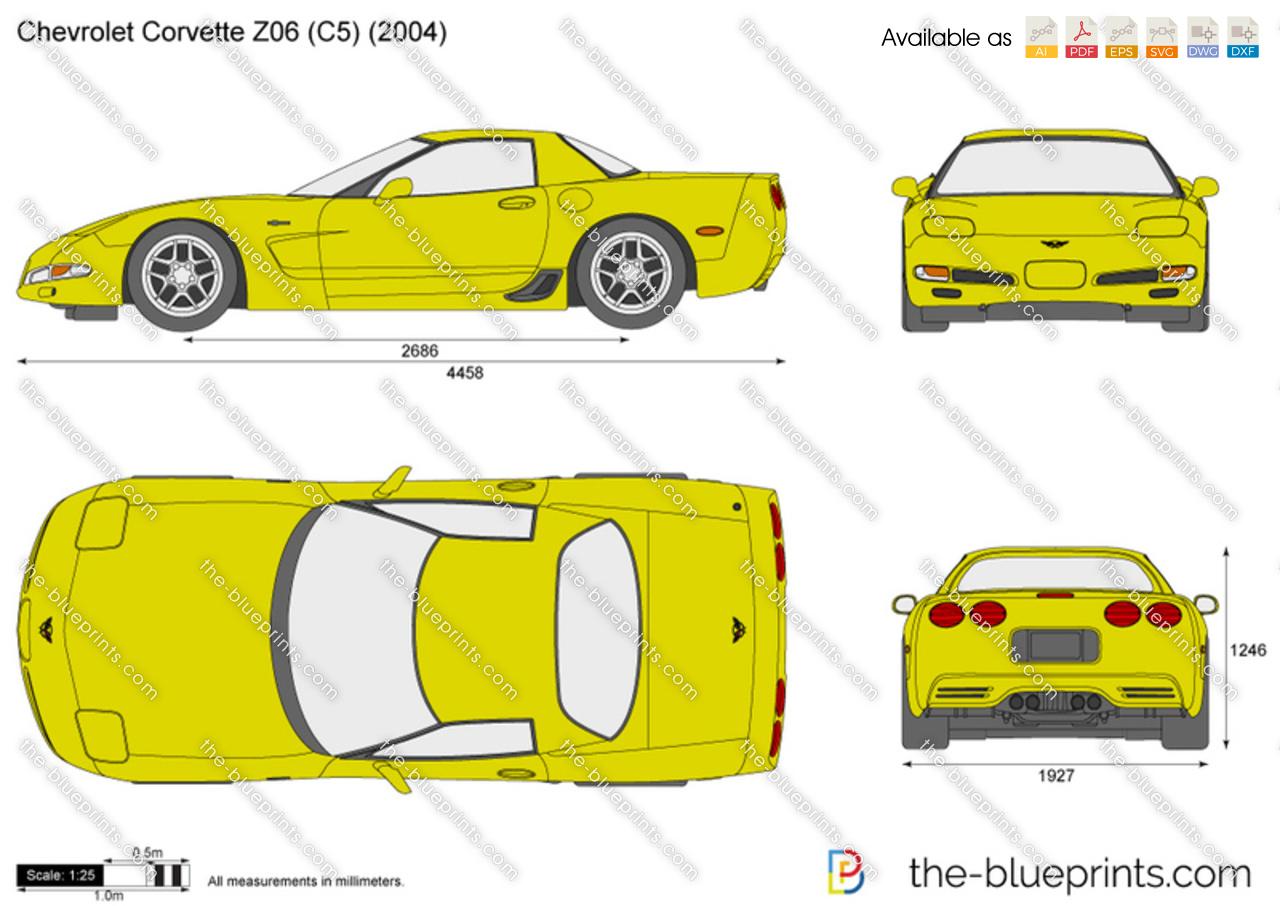 Chevrolet Corvette Z06 C5 Vector Drawing