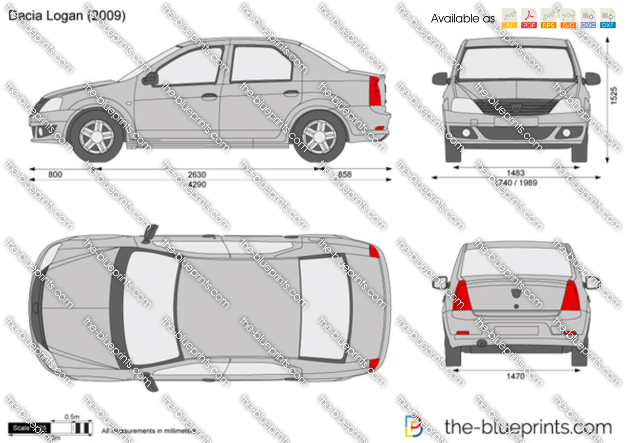 Dacia Logan Vector Drawing