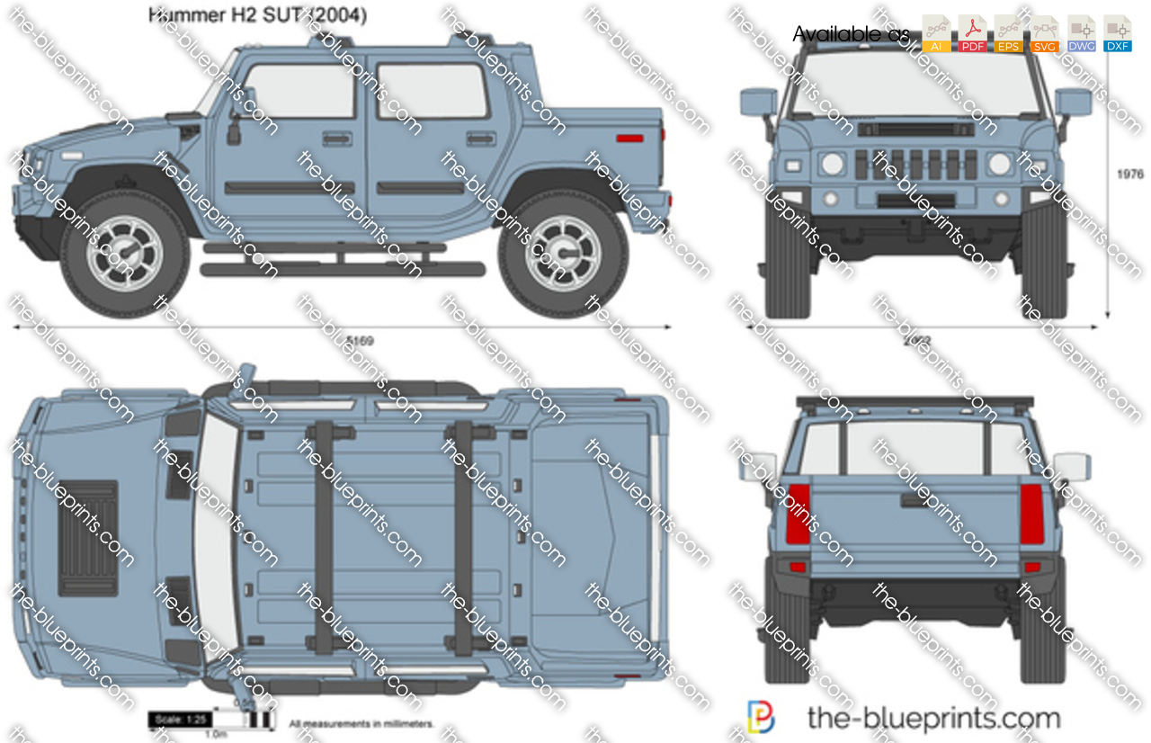 Hummer H2 Sut For Sale >> Hummer H2 SUT vector drawing