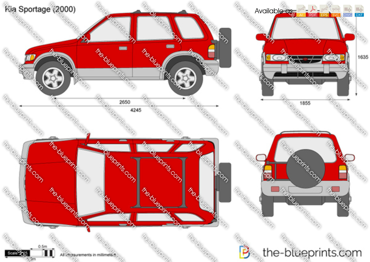 The Blueprints Com Vector Drawing Kia Sportage