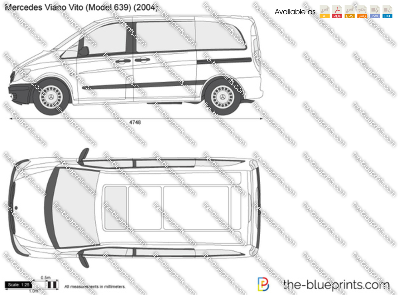 the vector drawing mercedes benz viano vito w639. Black Bedroom Furniture Sets. Home Design Ideas
