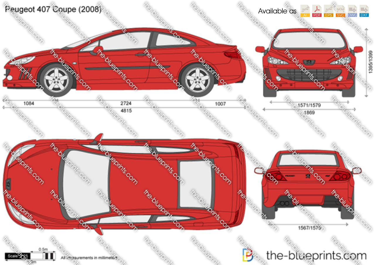 the vector drawing peugeot 407 coupe. Black Bedroom Furniture Sets. Home Design Ideas