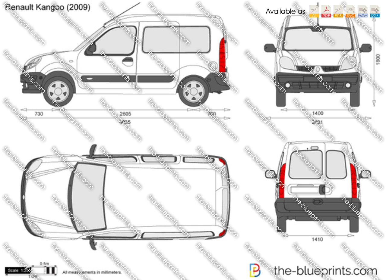 renault kangoo vector drawing