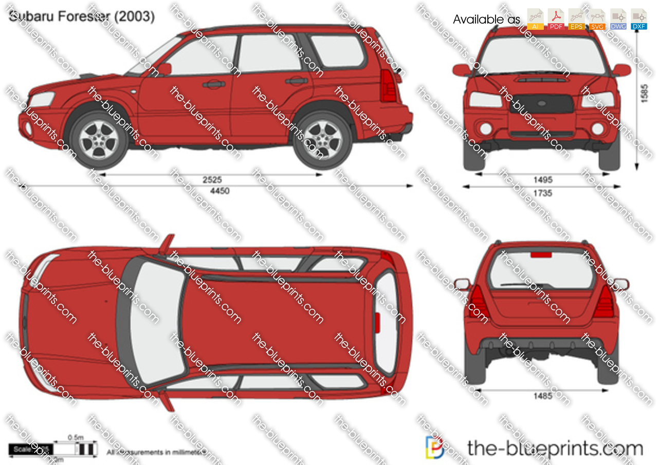 Subaru Forester Vector Drawing 2000 Wiring Diagram