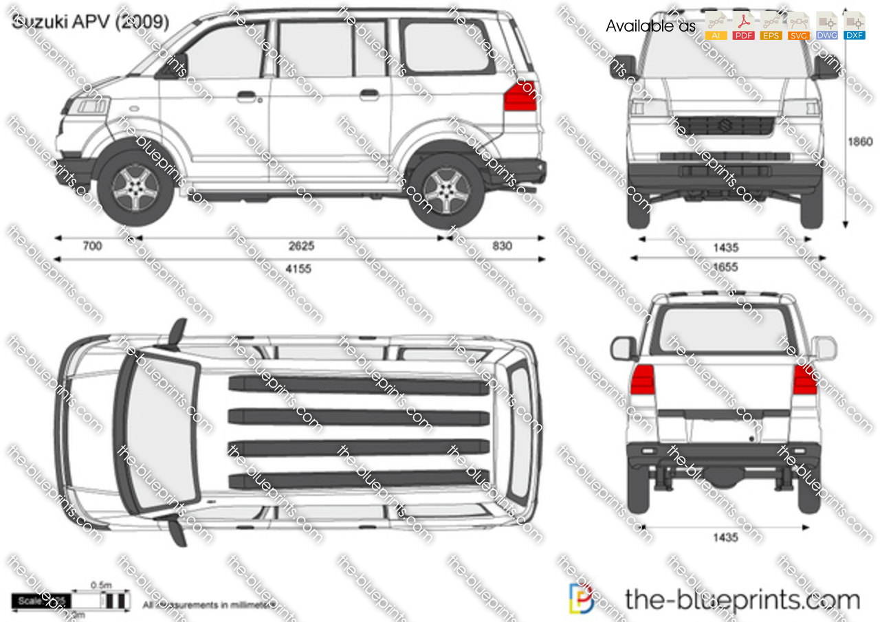 Suzuki Apv Vector Drawing