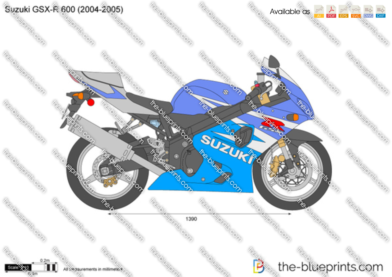 suzuki gsx r 600 vector drawing. Black Bedroom Furniture Sets. Home Design Ideas