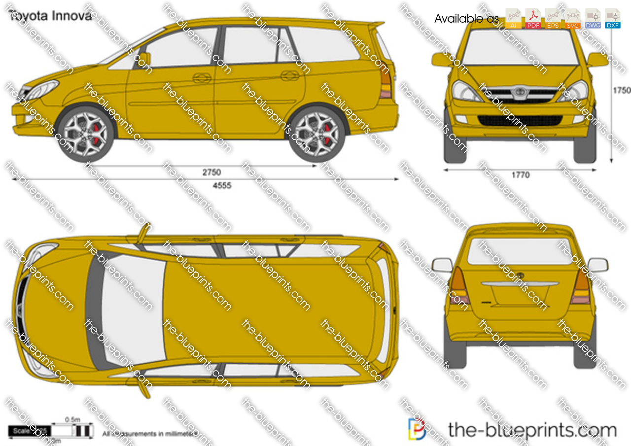 Toyota Innova Vector Drawing
