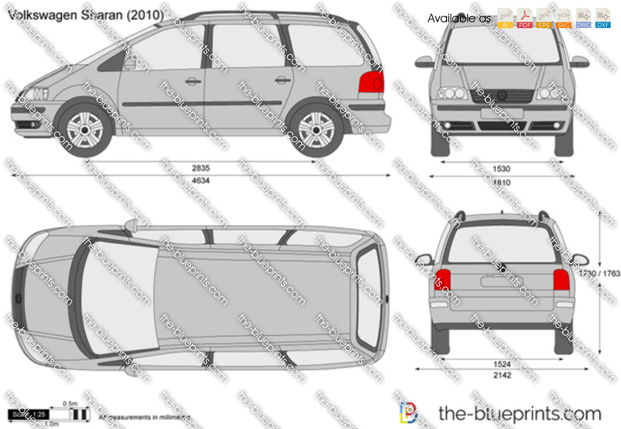 the vector drawing volkswagen sharan. Black Bedroom Furniture Sets. Home Design Ideas