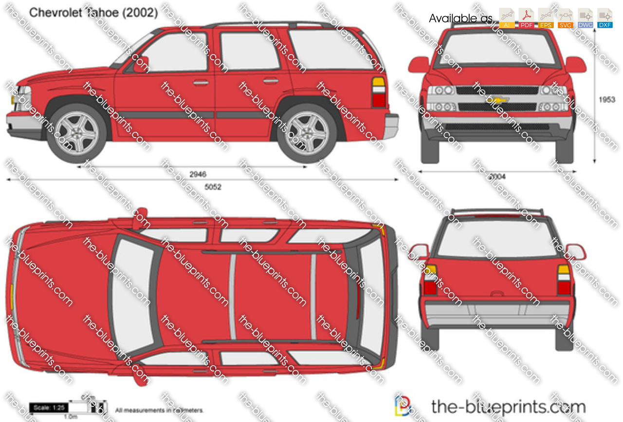 Chevrolet Tahoe vector drawing