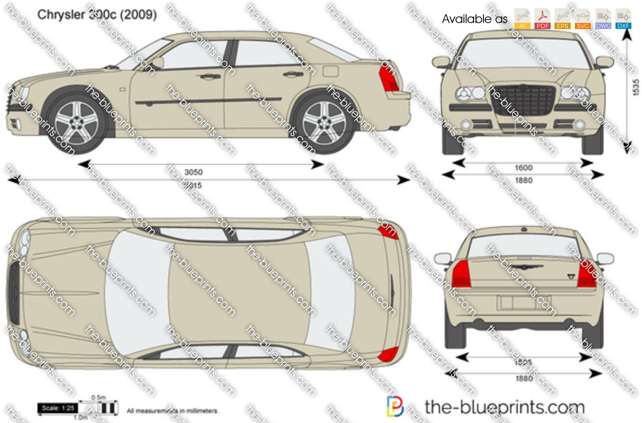 Chrysler 300c Vector Drawing