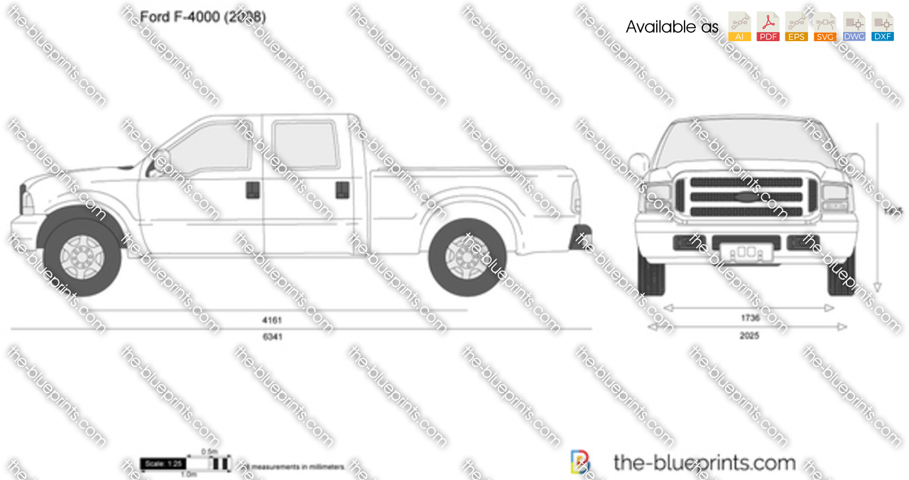 Ford F 4000 Vector Drawing