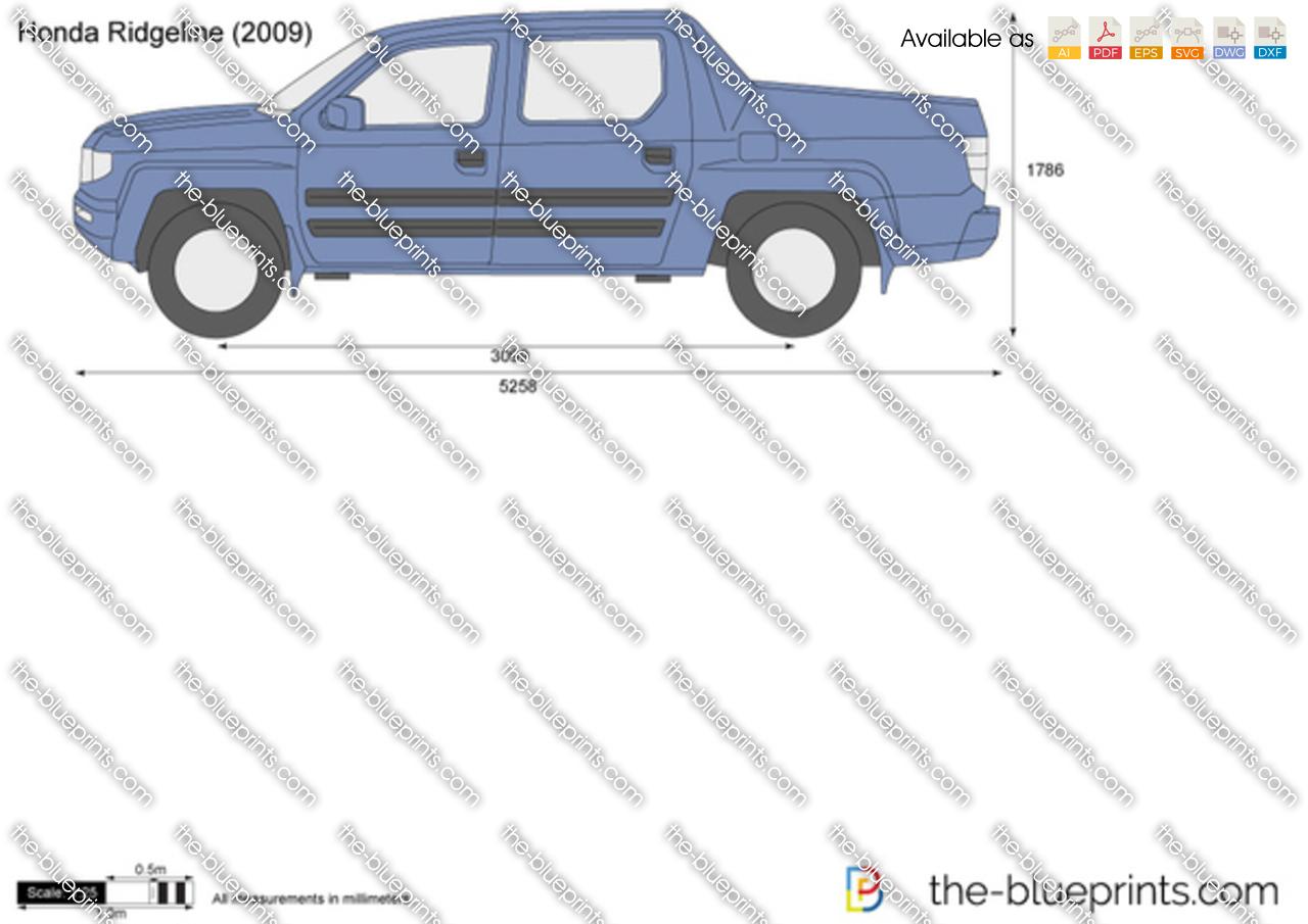 Honda Ridgeline Vector Drawing