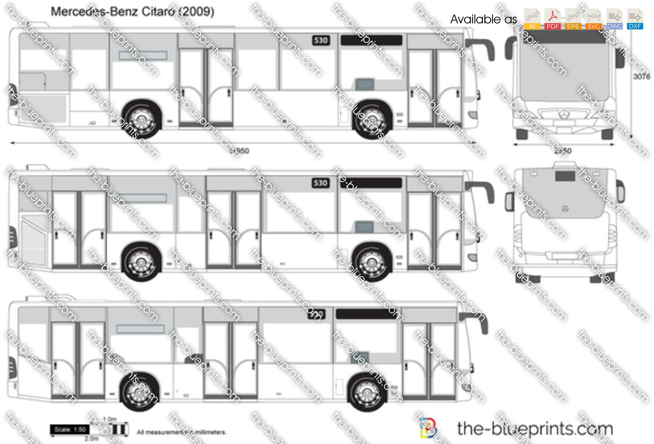 Mercedes Benz Citaro Vector Drawing