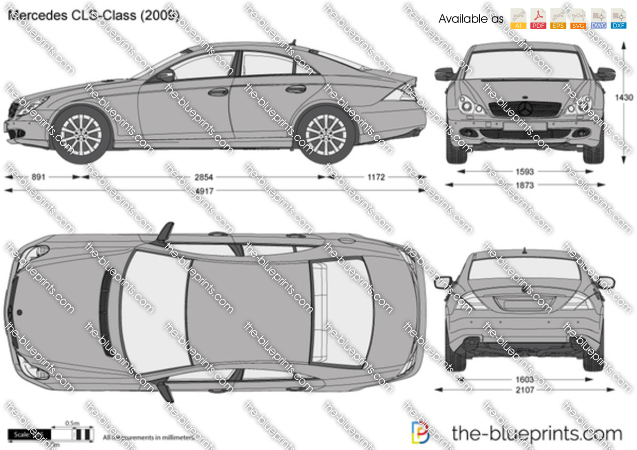 Mercedes Cls Price >> Mercedes-Benz CLS-Class W218 vector drawing