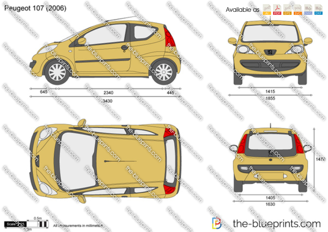 peugeot 107 vector drawing. Black Bedroom Furniture Sets. Home Design Ideas