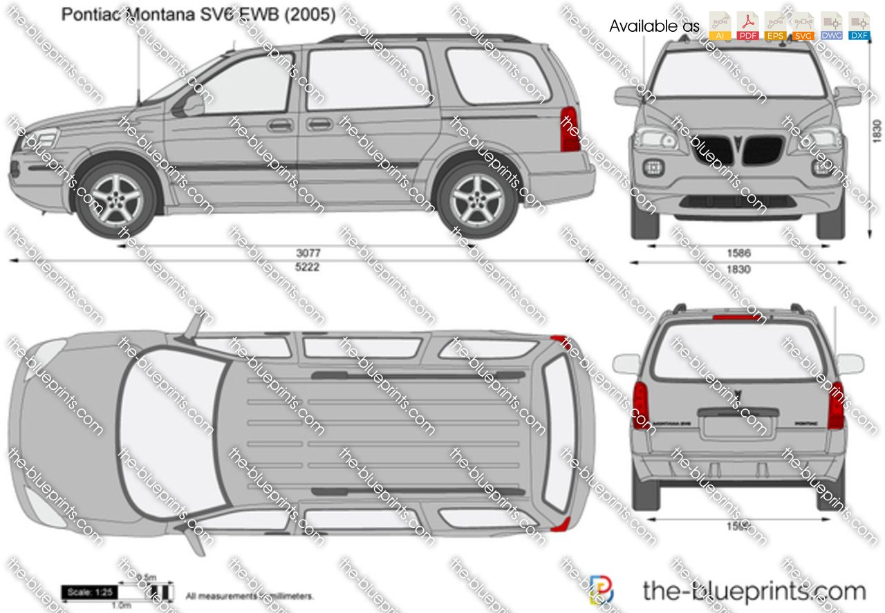 Pontiac Montana Sv6 Ewb Vector Drawing