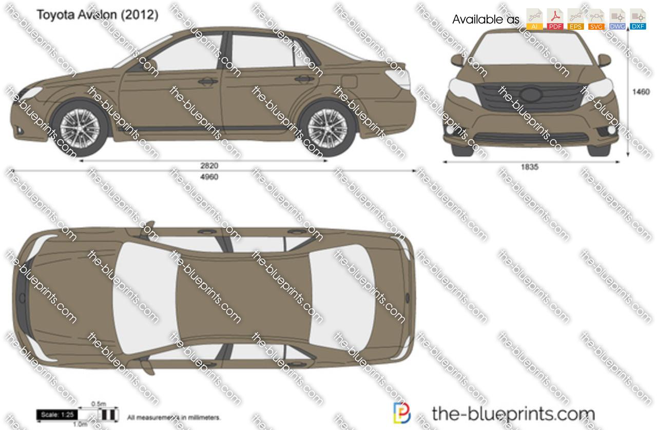TheBlueprintscom  Vector Drawing  Toyota Avalon