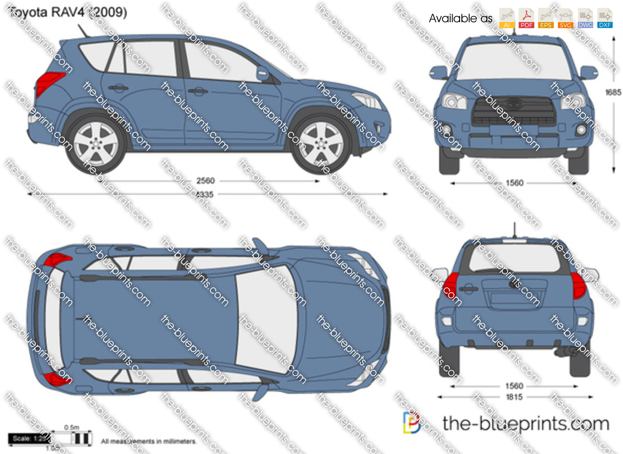 The Blueprints Com Vector Drawing Toyota Rav4