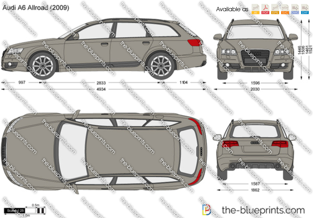 the vector drawing audi a6 allroad. Black Bedroom Furniture Sets. Home Design Ideas