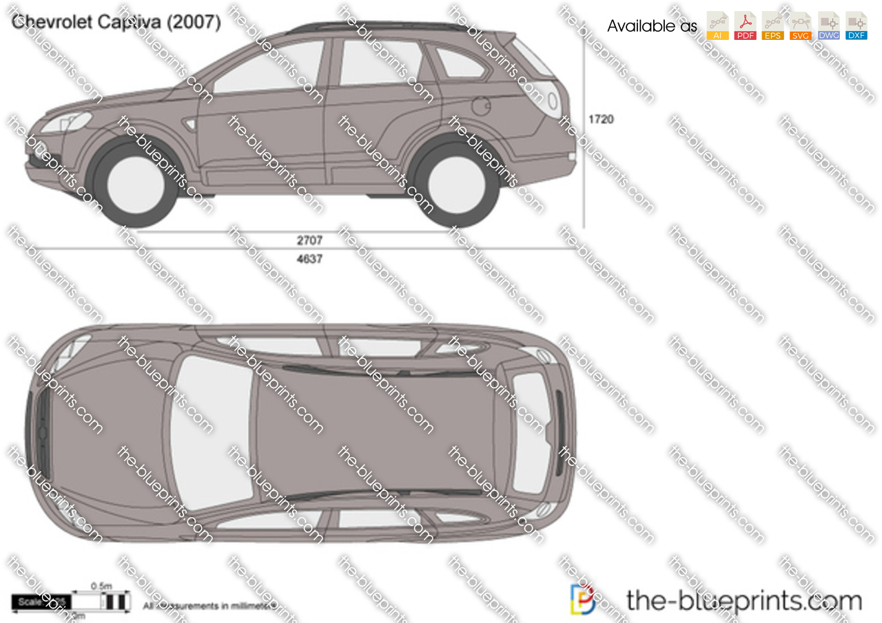TheBlueprintscom  Vector Drawing  Chevrolet Captiva